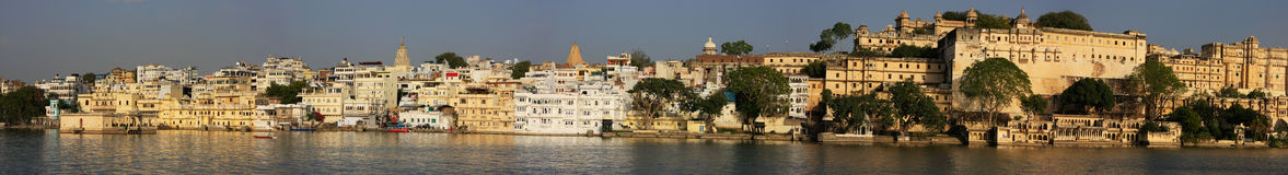 Panorama of City Palace complex, Udaipur, India Royalty Free Stock Photography