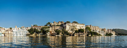 Panorama of City Palace. Udaipur, India Stock Photo
