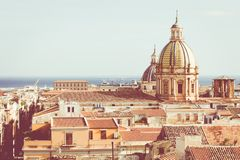 Panorama of the city of Palermo in Sicily, Italy.  Stock Photo