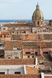 Panorama of the city of Palermo in Sicily, Italy.  Stock Images