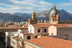 Panorama of the city of Palermo in Sicily, Italy.  Stock Image