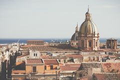 Panorama of the city of Palermo in Sicily, Italy.  Royalty Free Stock Photos