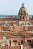 Panorama of the city of Palermo in Sicily, Italy.  Royalty Free Stock Image