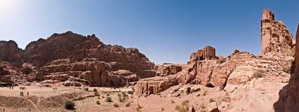 Panorama of city of Petra Royalty Free Stock Photo