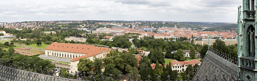 Panorama of the city of Prague Stock Photo
