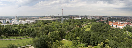 Panorama of the city of Prague Royalty Free Stock Image