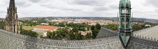 Panorama of the city of Prague Stock Photography