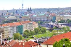 Panorama of the city of Prague Stock Photos