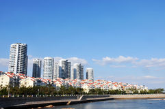 Panorama of  City in qingdao Royalty Free Stock Photo