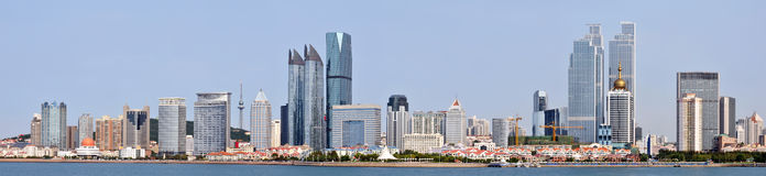 Panorama of  City in qingdao Royalty Free Stock Photos