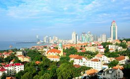 Panorama of City in qingdao Stock Photo