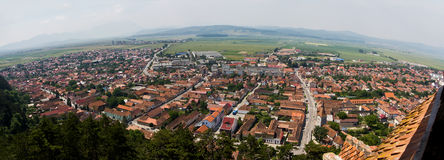 Panorama of the city Rasnov Stock Image
