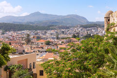 Panorama of the city of Rethymno Royalty Free Stock Image