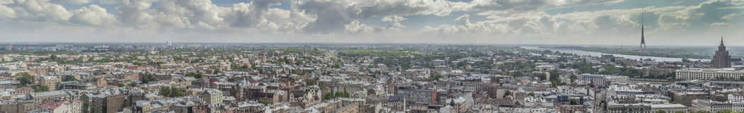 Panorama of city Riga, Latvia. Stock Image