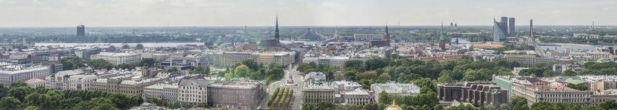 Panorama of city Riga, Latvia. Royalty Free Stock Photo
