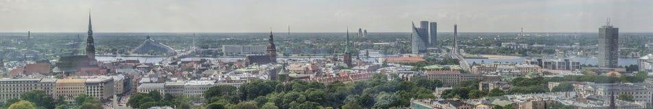 Panorama of city Riga, Latvia. Royalty Free Stock Photography