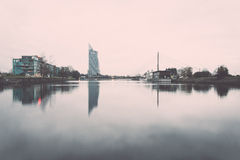 Panorama of the city of Riga, Latvia.. Vintage. Stock Photos