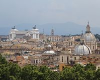 Panorama of the city of Rome seen from Castel San Angelo with al Royalty Free Stock Photos