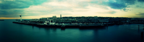 Panorama City by the Sea. France Royalty Free Stock Image