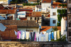 Panorama of the city of Sibenik. Croatia Royalty Free Stock Images
