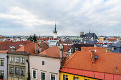Panorama of the city skyline with town hall in Olomouc, Stock Photo