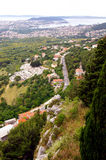 Panorama of city Split from fortress Klis - Croatia Stock Photography