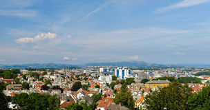 Panorama City Stavanger, Norway. Stock Photos