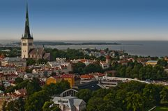 Panorama of city of Tallinn Stock Photography