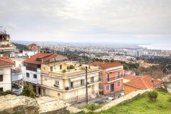 Panorama of city Thessaloniki. Stock Photos
