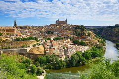 Panorama of the city of Toledo, Spain Stock Photos