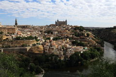 Panorama of the city of Toledo, Spain Royalty Free Stock Photo