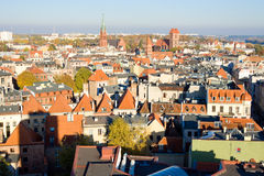 Panorama of the city Torun in Poland Stock Photography