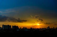 Panorama of the city at twilight. Thailand, Bangkok Royalty Free Stock Photo