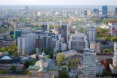 Panorama of the city. Urban fabric - in theory and urban sociology term used to describe the structure of a regular building characteristic of urban spaces. The Royalty Free Stock Photos