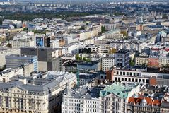 Panorama of the city. Urban fabric - in theory and urban sociology term used to describe the structure of a regular building characteristic of urban spaces. The Royalty Free Stock Photo