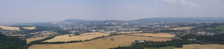 Panorama city Valasske Mezirici Stock Images