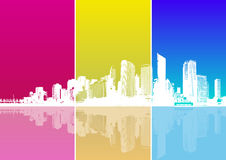 Panorama of city. Vector Stock Images