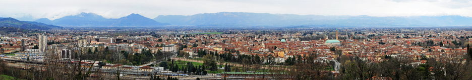 Panorama of the city of Vicenza Royalty Free Stock Photos