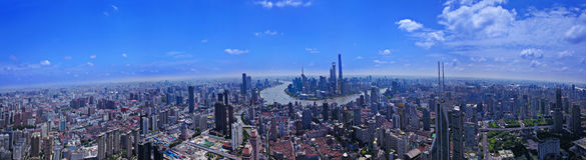 Panorama City View of the SHANGHAI,CHINA Stock Photo