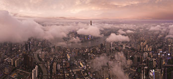 Panorama City View of the SHANGHAI,CHINA Stock Photography