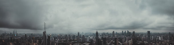 Panorama City View of the SHANGHAI,CHINA Royalty Free Stock Photography