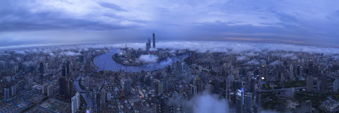 Panorama City View of the SHANGHAI,CHINA Royalty Free Stock Image