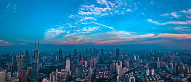 Panorama City View of the SHANGHAI,CHINA Royalty Free Stock Photos