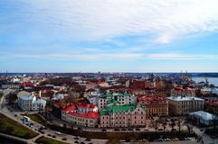 Panorama of the city of Vyborg. Royalty Free Stock Photography