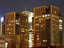 Panorama City. Warsaw, apartment high-rise building, city center, Poland, tall buildings, close the center royalty free stock images