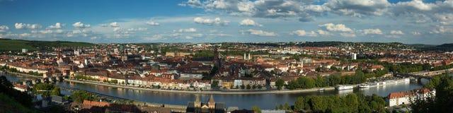 Panorama of the city of Wuerzburg. Fraconia, Bavaria Royalty Free Stock Photography