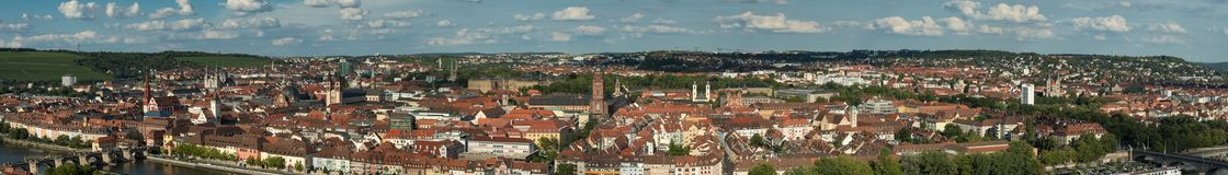 Panorama of the city of Wuerzburg Royalty Free Stock Image