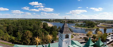 Panorama of the city of Yaroslavl, Russia Royalty Free Stock Images