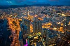 Panorama cityscape in Hongkong Royalty Free Stock Photos