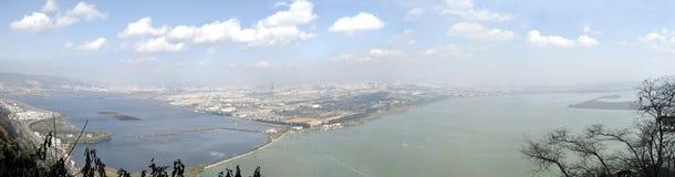 Panorama cityscape of kunming china Royalty Free Stock Image